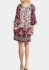 Plus Size Crochet Trim Peasant Dress alternate view
