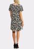 Plus Size Zebra Print Swing Dress alternate view