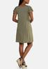 Plus Size Flutter Sleeve Swing Dress alternate view