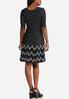 Plus Size Seamed Contrast Polka Dot Dress alternate view