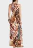 Plus Size Tie Waist Animal Maxi Dress alternate view