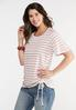 Cinch Front Striped Tee alternate view