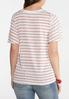 Plus Size Cinch Front Striped Tee alternate view
