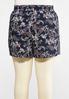 Plus Size Paisley Floral Tie Front Shorts alternate view