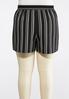 Plus Size Contrast Stripe Woven Shorts alternate view