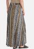 Plus Size Animal Stripe Maxi Skirt alternate view