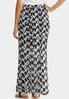 Plus Size Bold Houndstooth Skirt alternate view