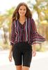 Neon Striped Bell Sleeve Top alternate view