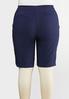 Plus Size Ruffle Pocket Bermuda Shorts alternate view