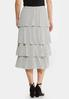 Plus Size Tiered Dot Midi Skirt alternate view