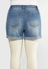 Plus Size Raw Rolled Hem Shorts alternate view
