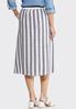 Stripe Tie Front Linen Skirt alternate view