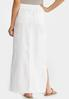 Drawstring Waist Linen Maxi Skirt alternate view