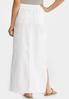 Plus Size Drawstring Waist Linen Maxi Skirt alternate view