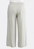 Plus Size Stripe Wide Leg Linen Pants alternate view