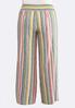 Plus Size Stripe Wide Leg Linen Pants alt view
