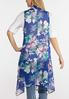 Plus Size Sheer Floral Vest alternate view