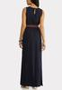 Plus Nautical Navy Belted Maxi Dress alternate view