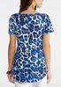 Plus Size Blue Leopard Corset Top alternate view