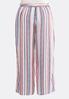 Plus Size Tie Waist Printed Palazzo Pants alternate view