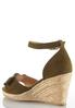 Faux Suede Bow Roped Wedges alternate view