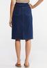 Plus Size Pull- On Denim Skirt alternate view