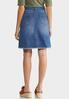 Tortoise Belt Frayed Denim Skirt alternate view
