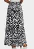 Zebra Print Swing Maxi Skirt alternate view