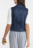 Plus Size Dark Wash Denim Vest alternate view