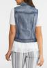 Plus Size Washed Denim Vest alternate view