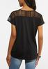Plus Size Lacey Tie Front Top alternate view