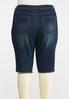Plus Size Dark Raw Hem Bermuda Shorts alternate view