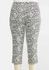 Plus Extended Cropped Zebra Print Pants alternate view