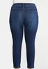 Plus Size Dark Wash Skinny Ankle Jeans alternate view