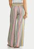 Stripe Wide Leg Linen Pants alternate view