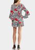 Plus Size Puff Floral Off The Shoulder Romper alternate view
