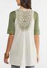 Plus Size Natural Crochet Vest alternate view