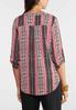 Plus Size Aztec Rolled Sleeve Top alternate view