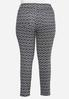 Plus Size Diamond Print Knit Pants alternate view