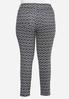 Plus Petite Diamond Print Knit Pants alternate view