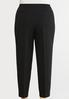 Plus Size Cropped Slim Knit Pants alternate view