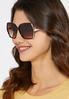 Embellished Rim Square Sunglasses alternate view