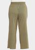 Plus Size Wrap Front Wide Leg Pants alternate view