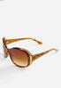Embellished Frame Round Sunglasses alternate view