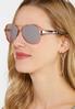 Rose Gold Floral Aviator Sunglasses alternate view