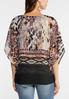 Plus Size Embellished Animal Print Capelet alternate view