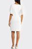 Plus Size White Chiffon Sleeve Dress alternate view