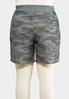 Plus Size Camo Shorts alternate view
