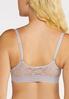 Plus Size Lace Inset Front Close Bra Set alt view