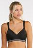 Plus Size Metallic Stripe Sports Bra alternate view